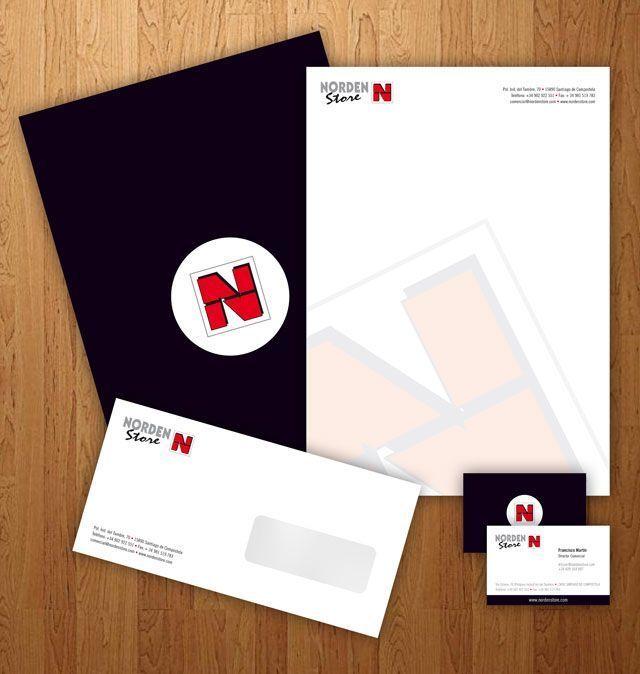 tarjeta de visita, sobre, papel de carta, carpeta corporativa